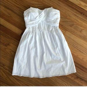 BCBGeneration Strapless White Cotton Sundress M